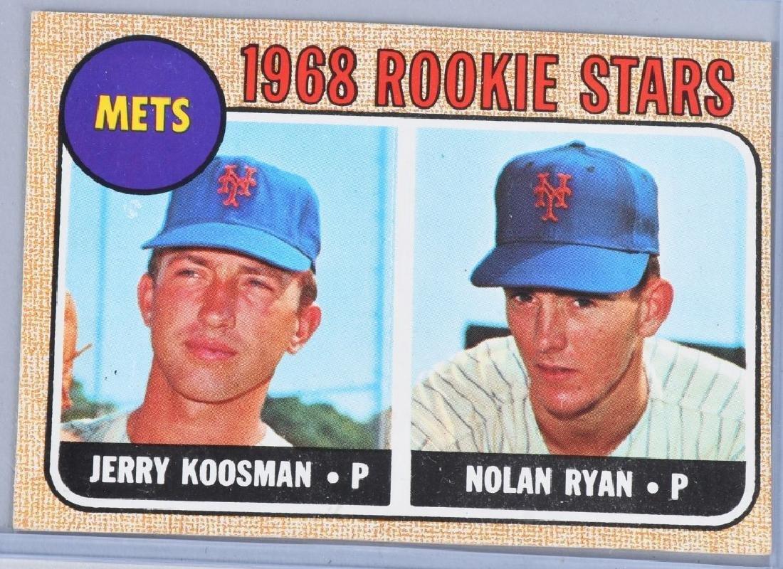 1968 TOPS #177 NOLAN RYAN & KOOSMAN ROOKIE CARD