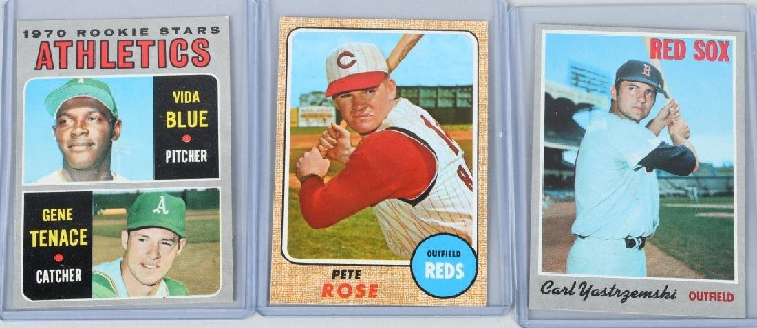 ROSE, YASTREZEMSKI, & BLUE ROOKIE BASEBALL CARDS