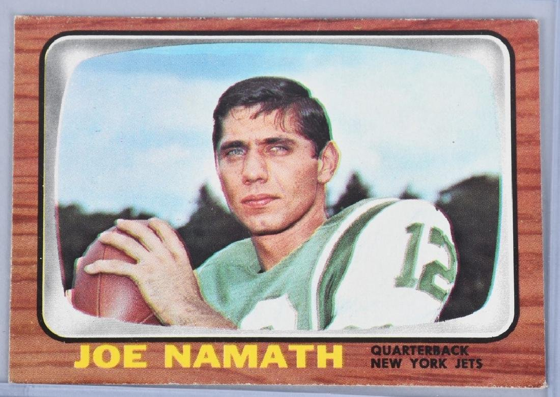 1966 TOPPS #96 JOE NAMATH 2ND YEAR FOOTBALL CARD