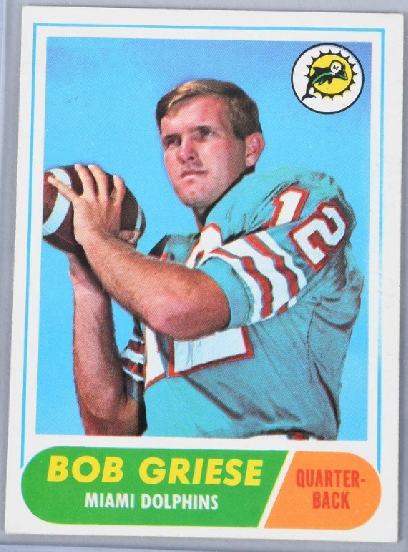 1968 TOPPS #196 BOB GRIESE ROOKIE CARD