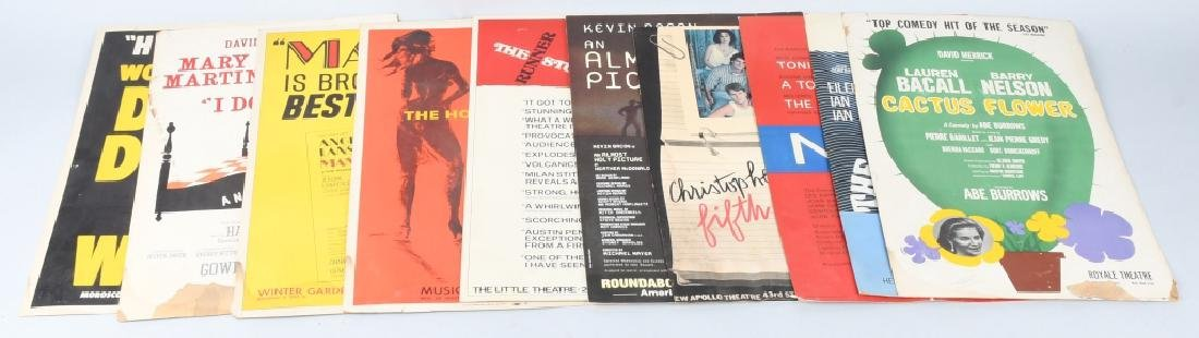 10- VINTAGE NY THEATER PLAY WINDOW CARDS