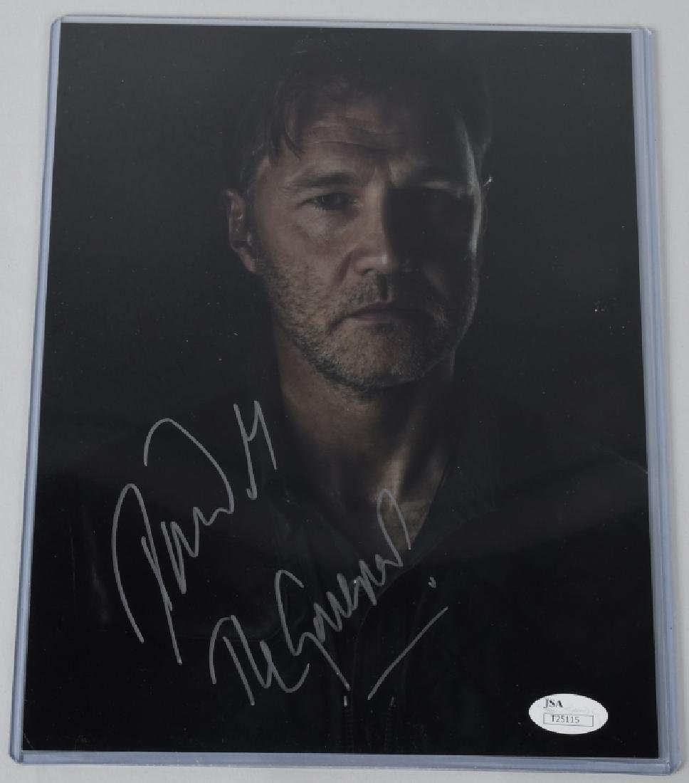 WALKING DEAD ACTOR DAVE MORRISEV SIGNED PHOTO