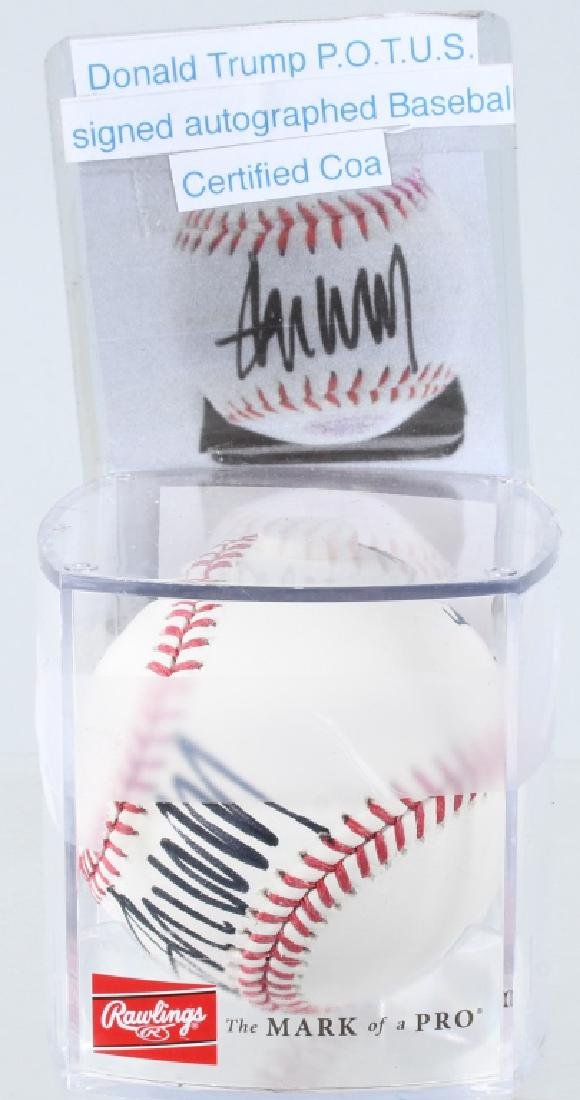 PRESIDENT DONALD TRUMP AUTOGRAPHED BASEBALL