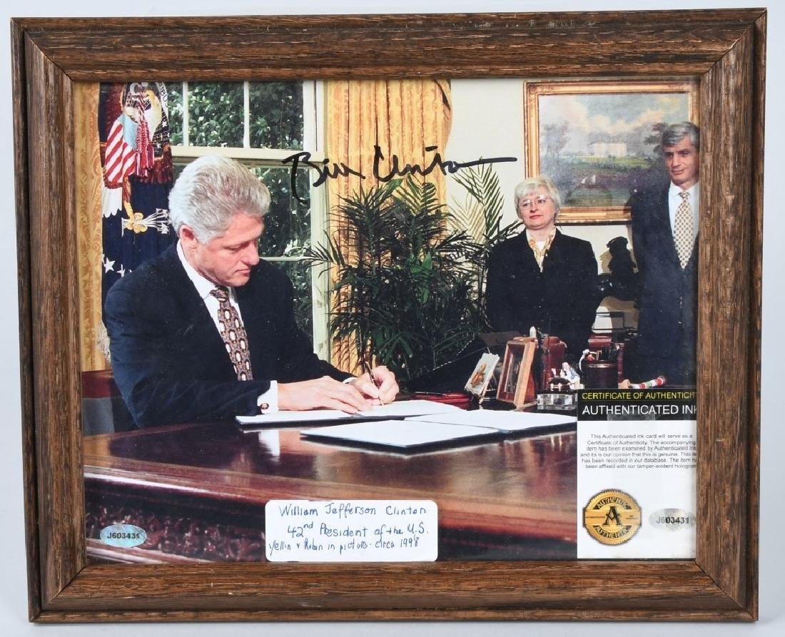 BILL CLINTON AUTOGRAPHED PICTURE