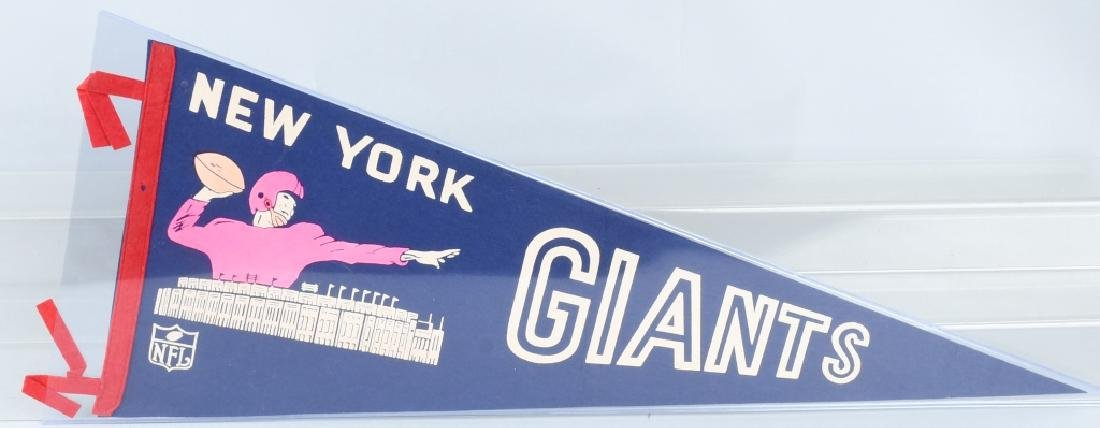 NEW YORK GIANTS FULL-SIZE 1950S-60S PENNANT