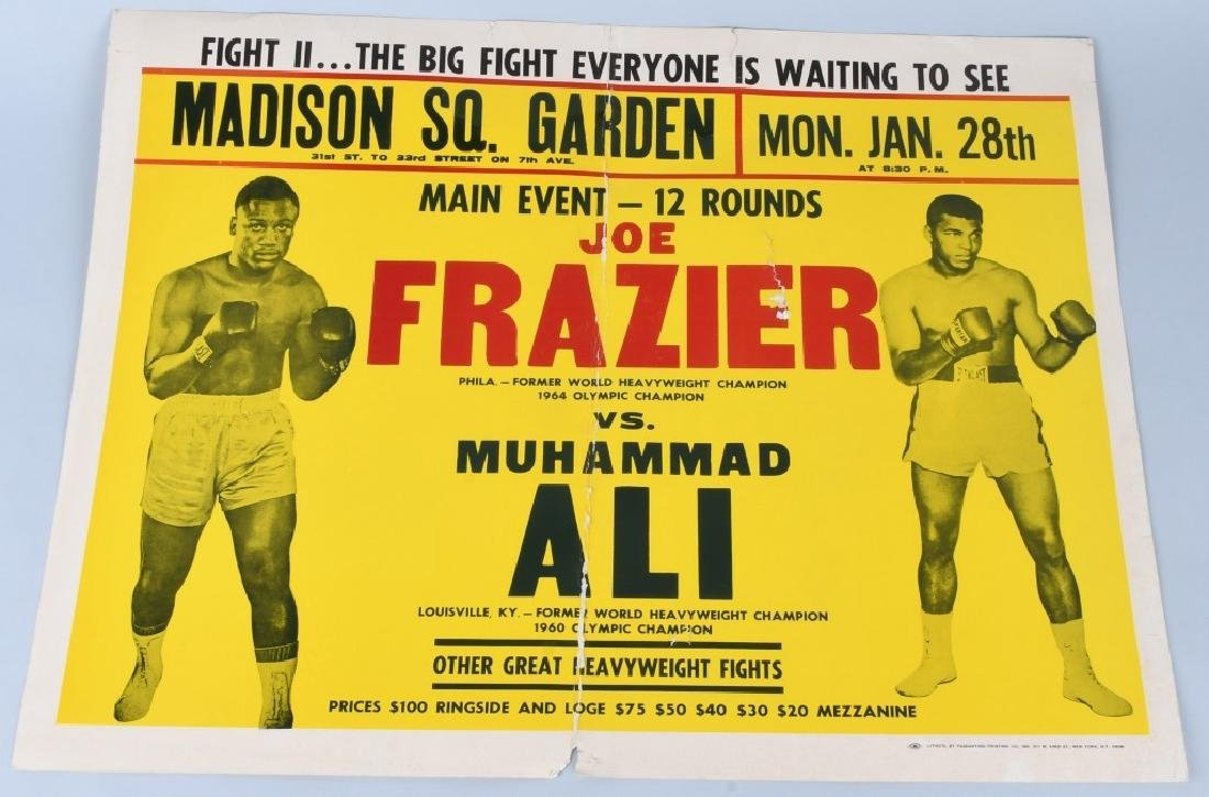 1974 FRAZIER & ALI FIGHT BOXING POSTER