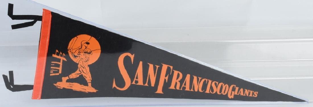 SAN FRANCISCO GIANTS ¾ SIZE 1960S BASEBALL PENNANT