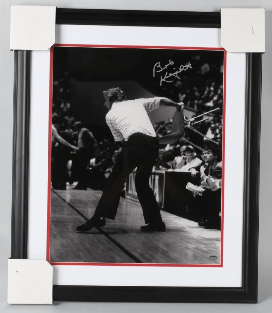 BOBBY KNIGHT SIGNED 16X20 FRAMED BASKETBALL PHOTO