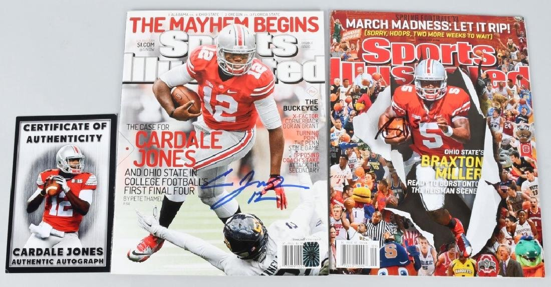 CARDALE JONES & BRAXTON MILLER SIGNED SI COVERS