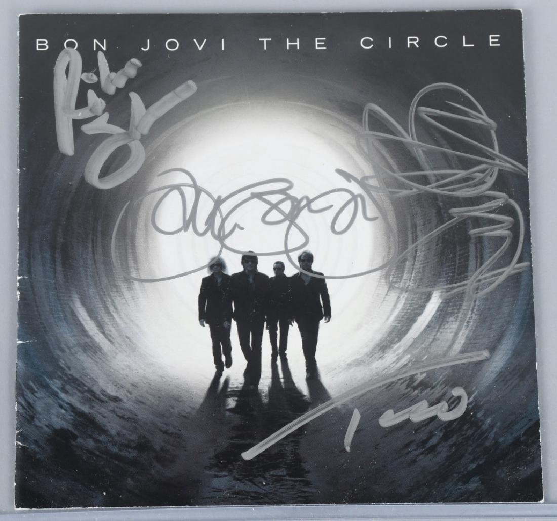 "BON JOVI SIGNED CD COVER ""BON JOVI THE CIRCLE""."