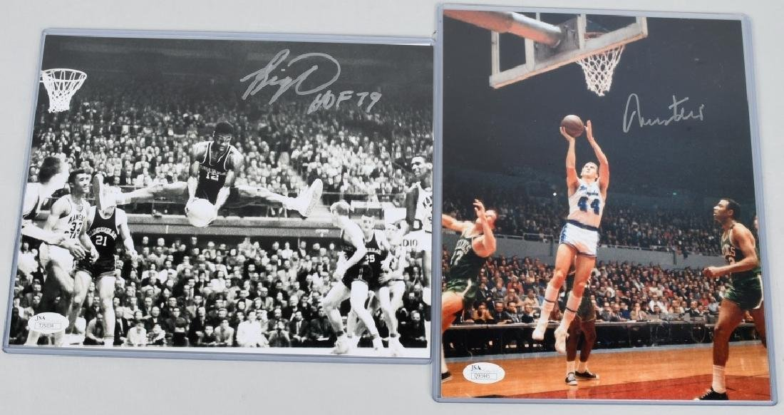 JERRY WEST & OSCAR ROBINSON SIGNED NBA PHOTOS
