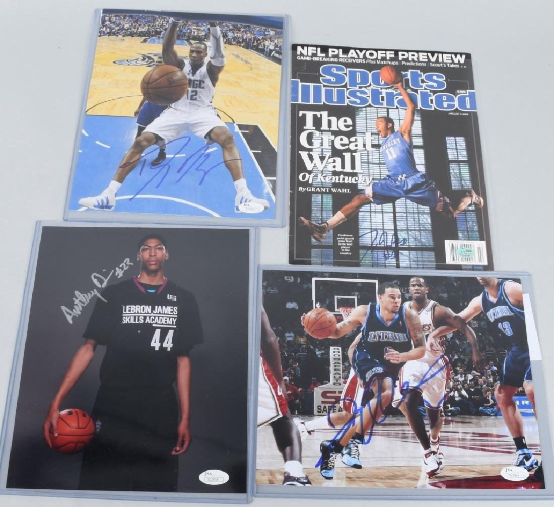 NBA SIGNED SPORTS ILLUSTRATED COVER & PHOTO LOT