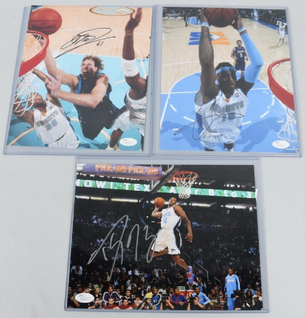 NBA BASKETBALL SIGNED PHOTO LOT