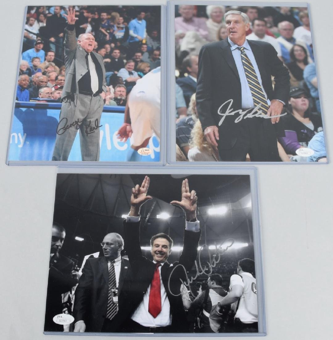 NBA BASKETBALL COACHES SIGNED PHOTO LOT