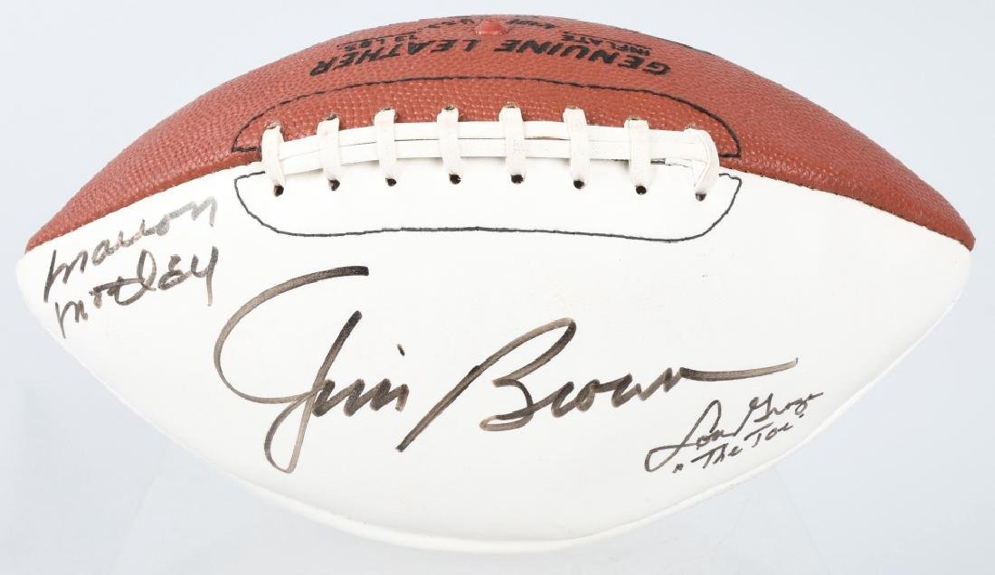 CLEVELAND BROWNS 9 AUTOGRAPH HALL OF FAME FOOTBALL