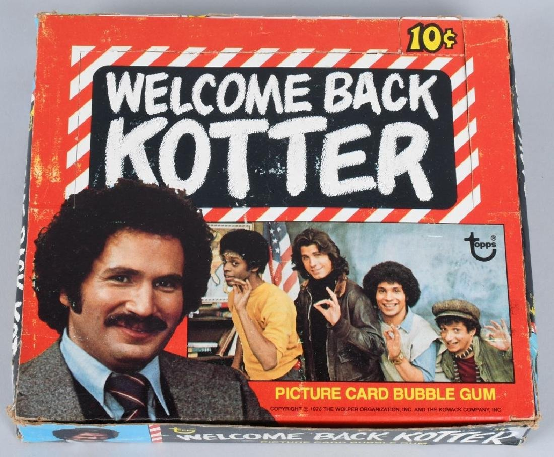 WELCOME BACK KOTTER' WAX BOX TOPPS