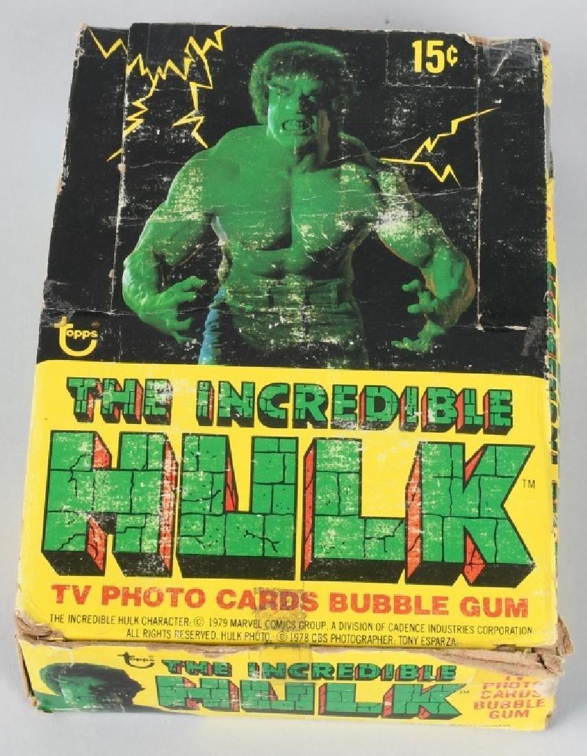 TOPPS 'THE INCREDIBLE HULK' UNOPENED WAX BOX