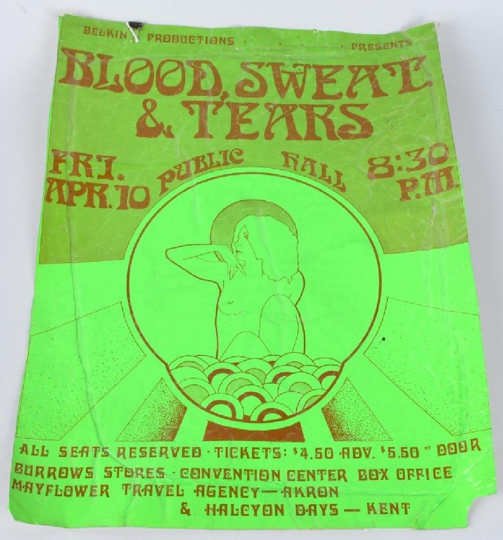 60s BLOOD SWEAT & TEARS CLEVELAND CONCERT POSTER