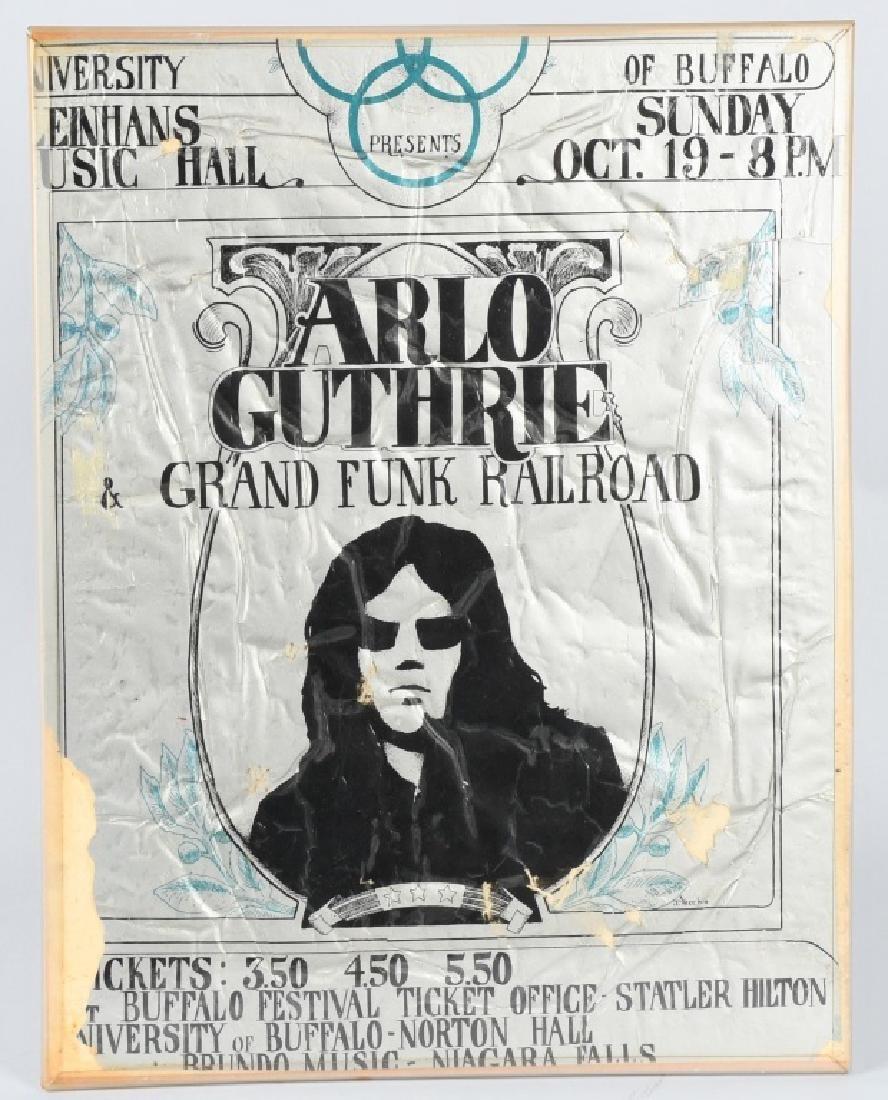 60s ARLO GUTHRIE CONCERT POSTER BUFFALO NY