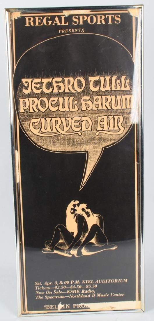 1960s JETHRO TULL CONCERT POSTER CLEVELAND OHIO