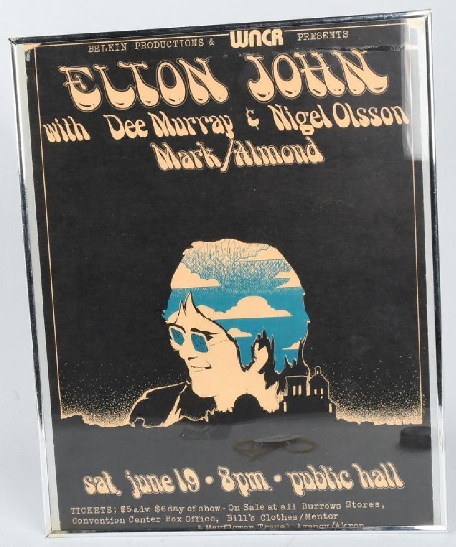 70s ELTON JOHN CONCERT POSTER CLEVELAND OHIO