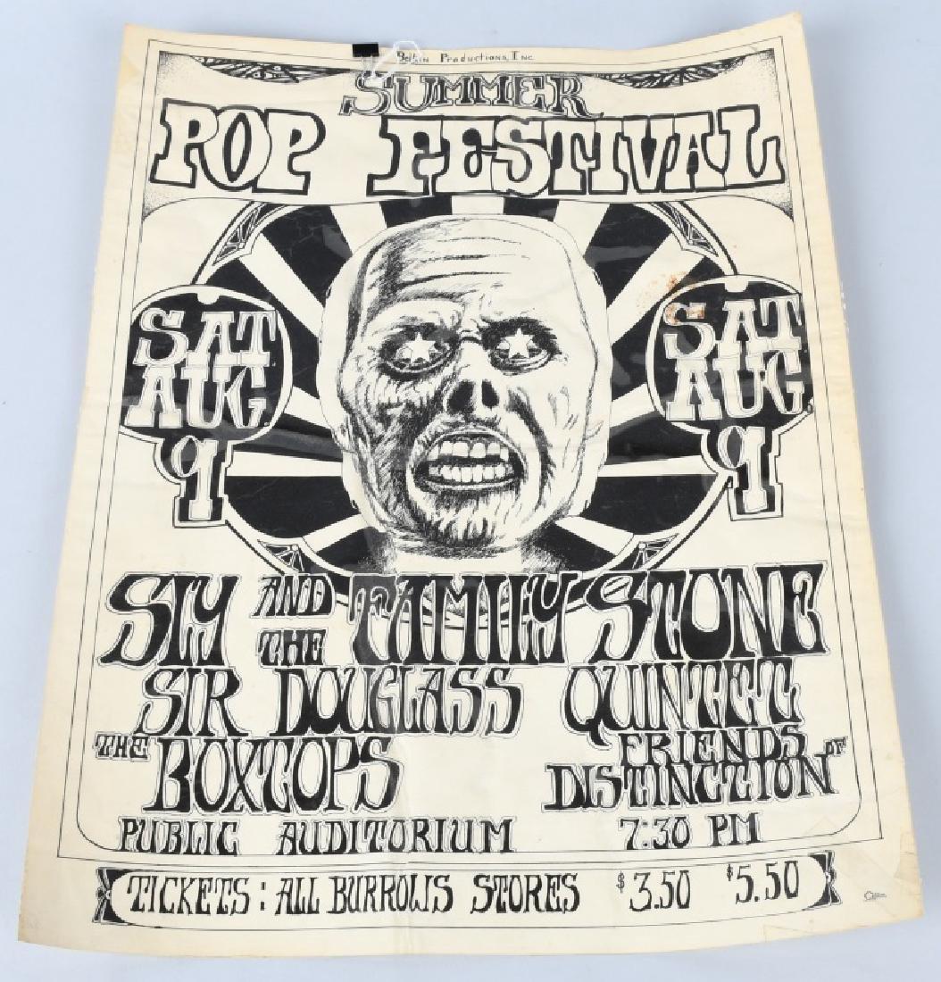 60s SUMMER POP FESTIVAL CONCERT POSTER