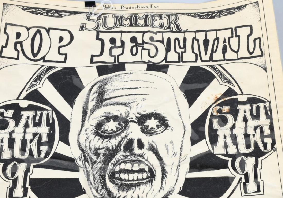 60s SUMMER POP FESTIVAL CONCERT POSTER - 2