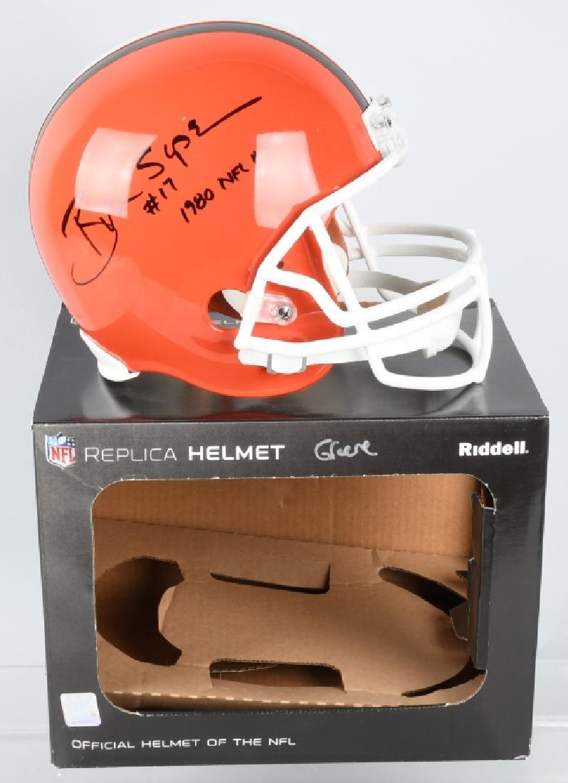 BRIAN SIPE FULL-SIZE SIGNED BROWNS HELMET
