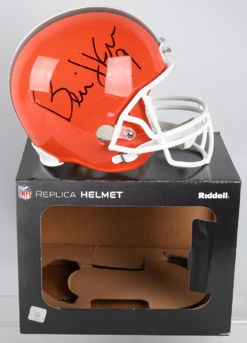 BERNIE KOSAR FULL-SIZE SIGNED BROWNS HELMET