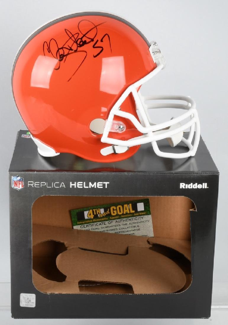 CLAY MATTHEWS SIGNED BROWNS FULL-SIZE HELMET