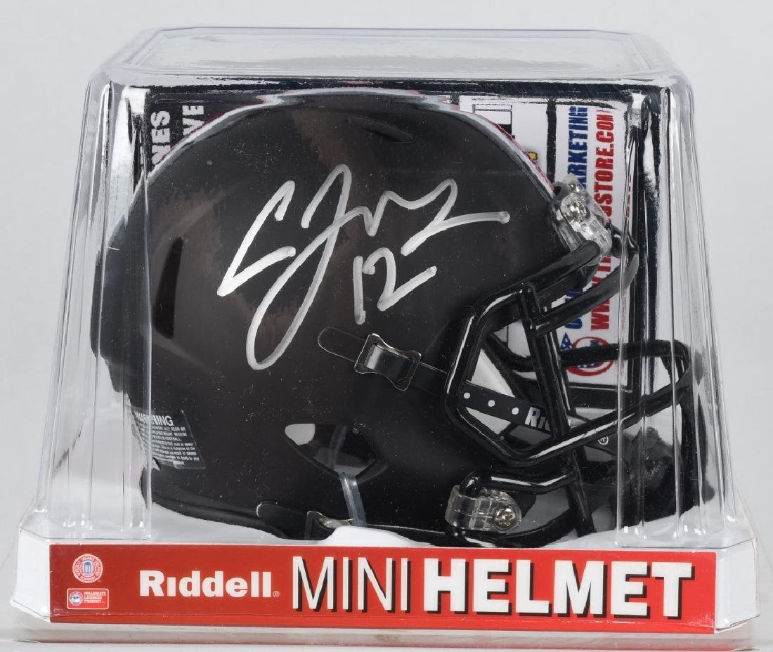 CARDALE JONES SIGNED OSU FOOTBALL MINI-HELMET