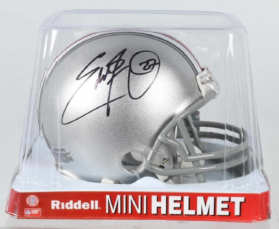EDDIE GEORGE SIGNED OSU FOOTBALL MINI-HELMET