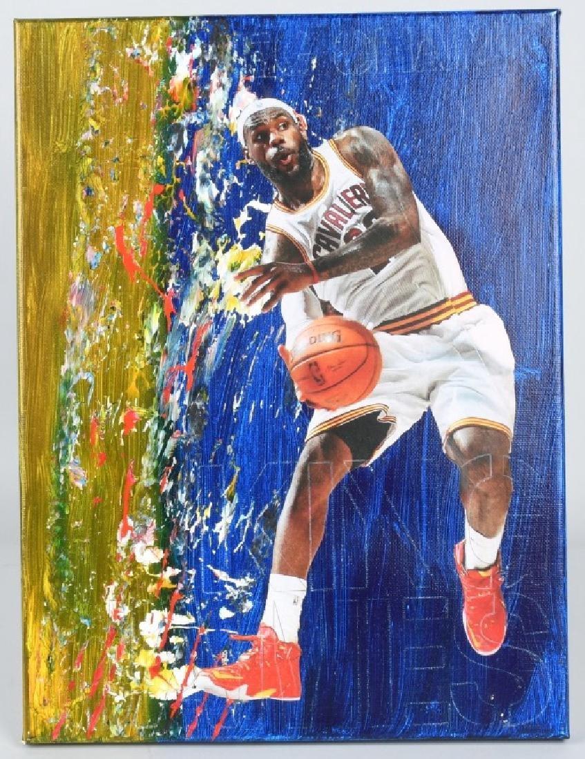 LEBRON JAMES ORIGINAL BASKETBALL ARTWORK