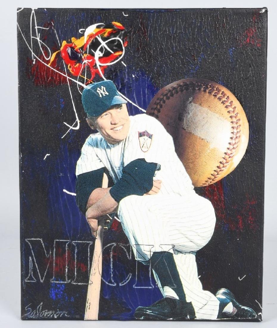 MICKEY MANTLE ORIGINAL BASEBALL ARTWORK