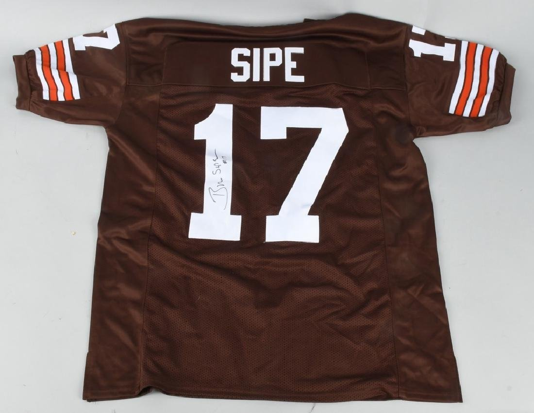BRIAN SIPE BROWNS SIGNED FOOTBALL JERSEY