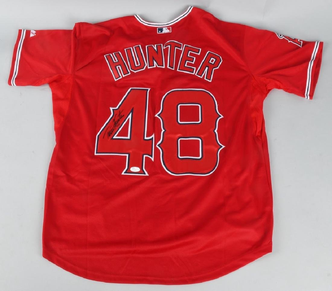 TORI HUNTER SIGNED RED CALIFORNIA ANGELS JERSEY