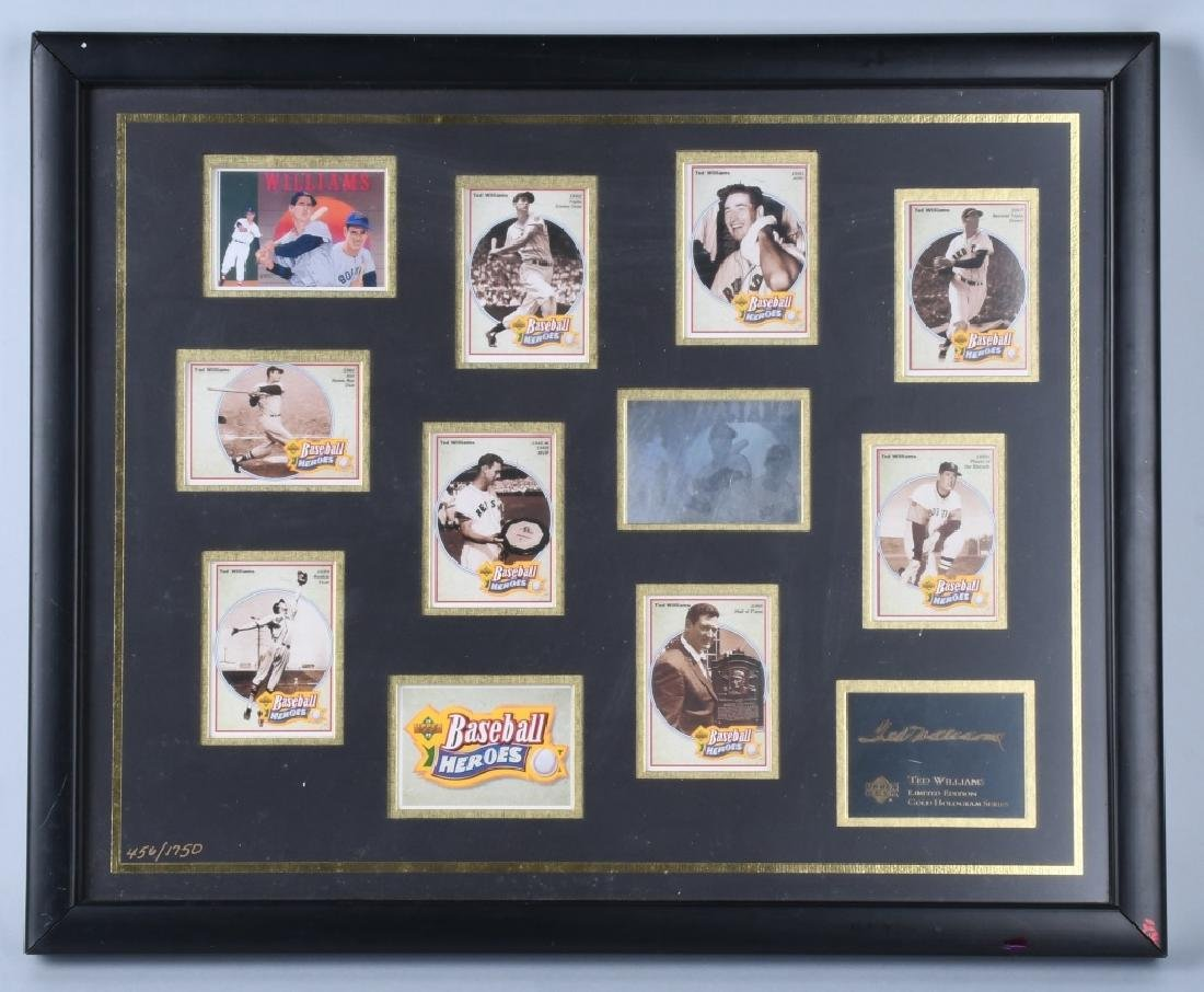 TED WILLIAMS, LIMITED EDITION GOLD HOLOGRAM