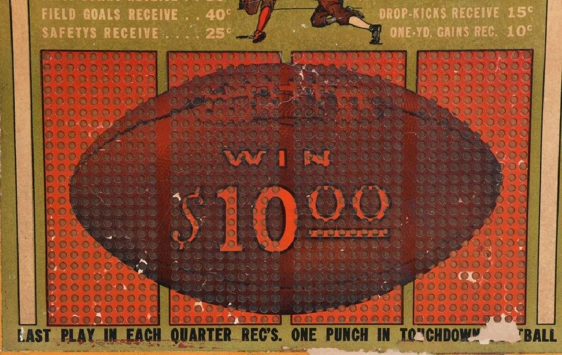 1920s-30s UNUSED WOODEN FOOTBALL PUNCH BOARD - 3