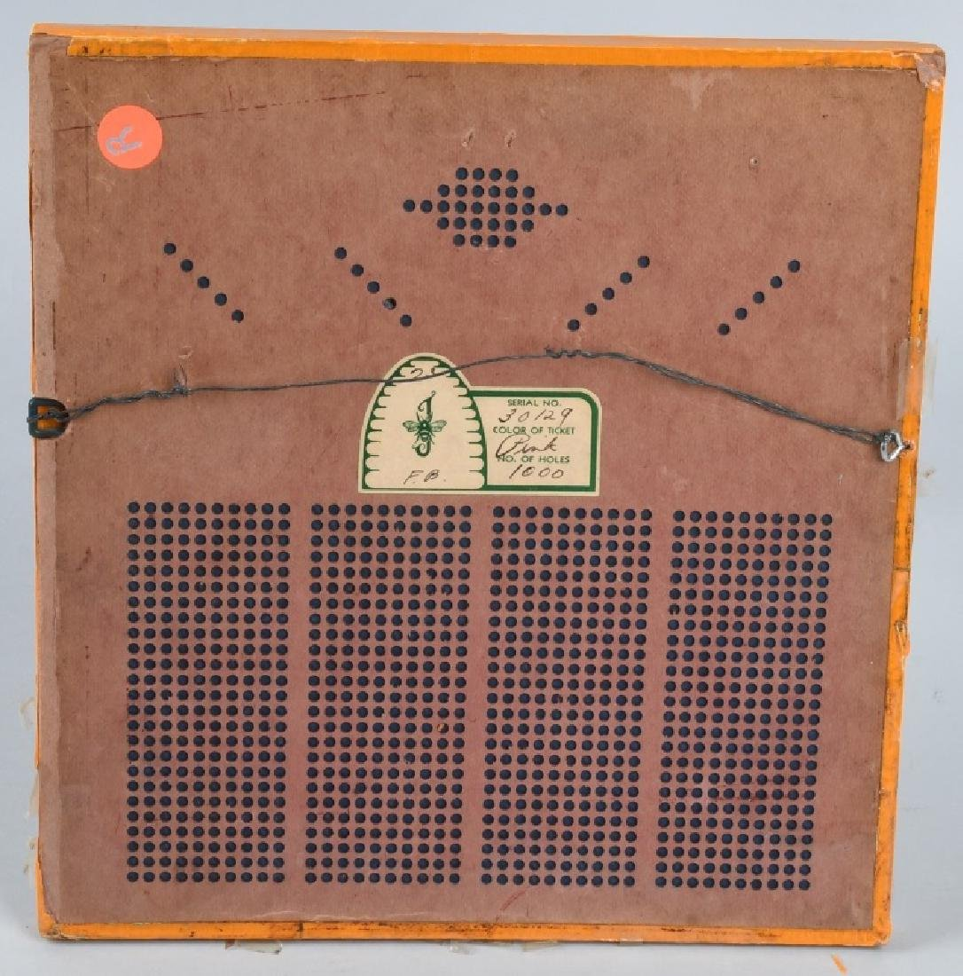 1920s-30s UNUSED WOODEN FOOTBALL PUNCH BOARD - 4