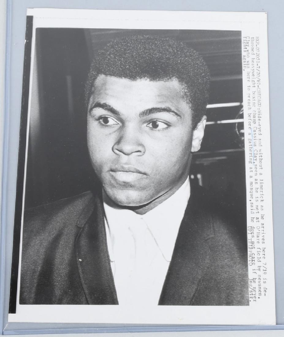 ORIGINAL CASSIUS CLAY MUHAMMAD ALI WIRE PHOTO