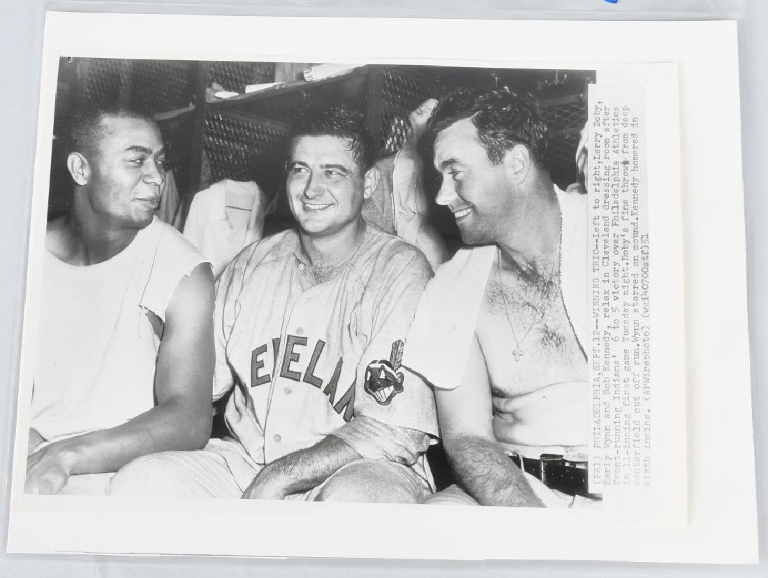ORIGINAL BASEBALL WIRE PHOTO DOBY WYNN KENNEDY