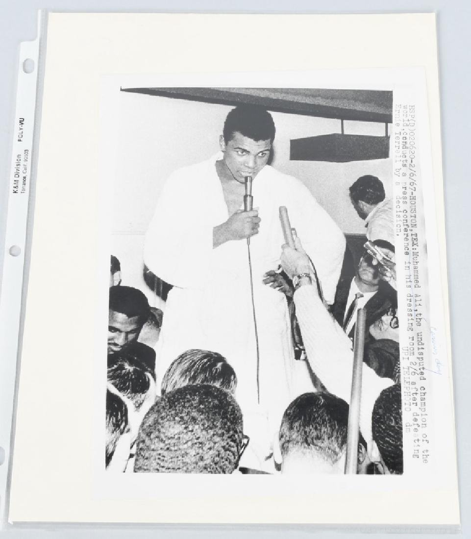 ORIGINAL WIRE PHOTO MUHAMMAD ALI