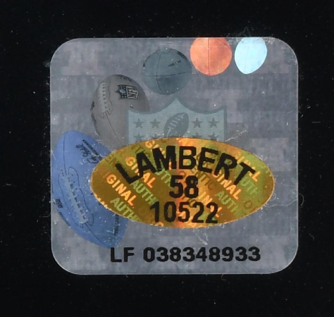 JACK LAMBERT PITTSBURG STEELERS SIGNED PHOTO - 3