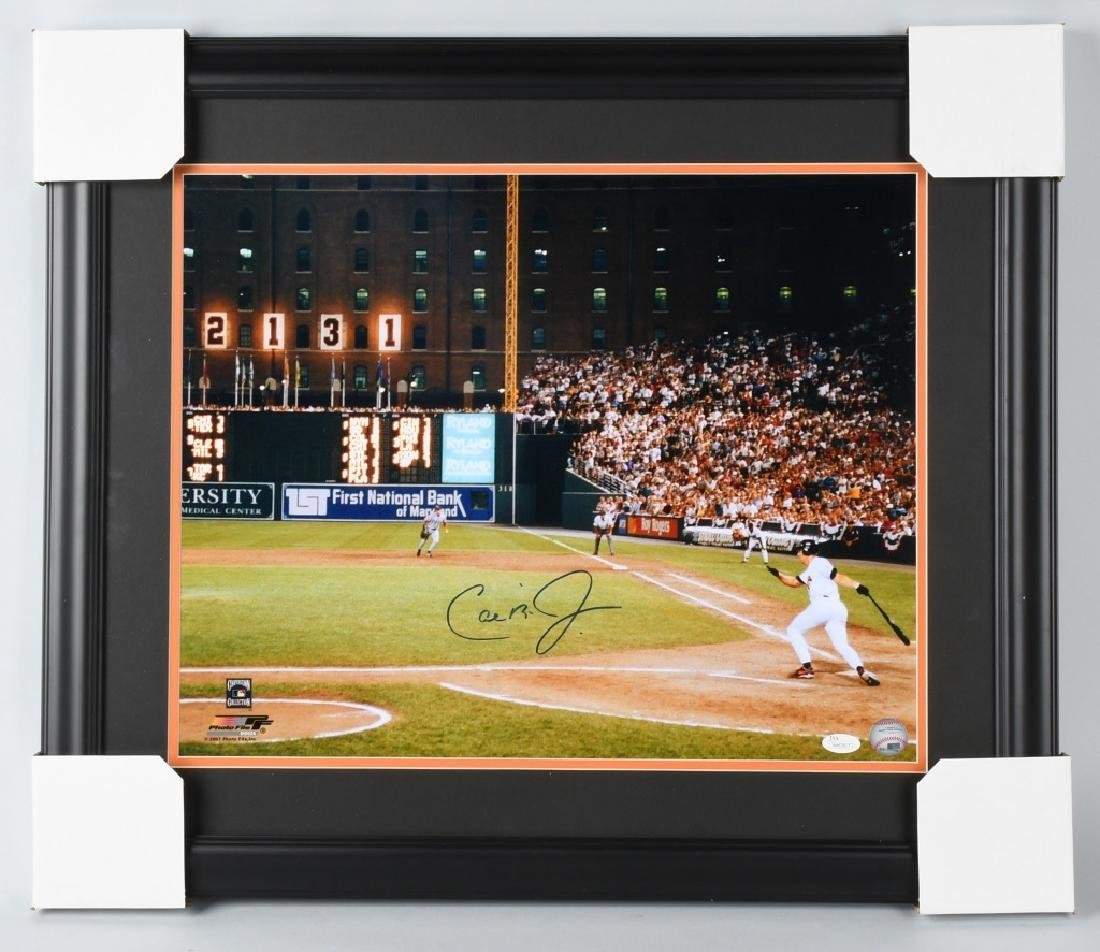 CAL RIPKIN 16X20 MATTED & FRAMED SIGNED PHOTO