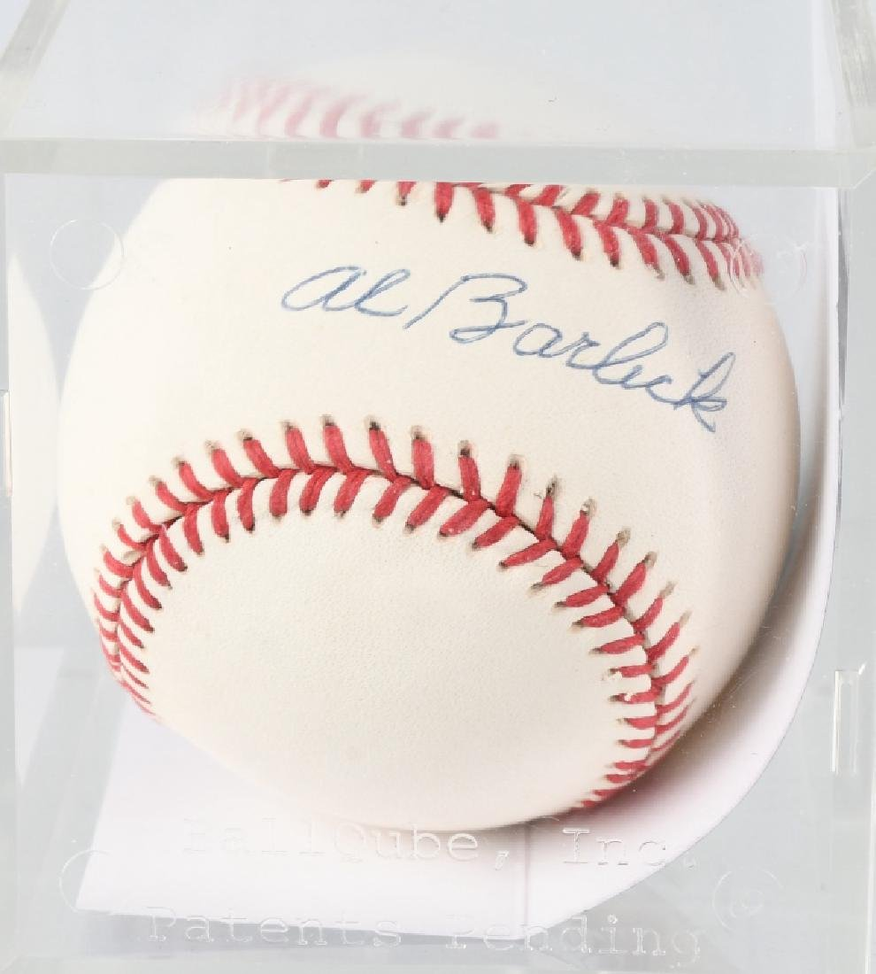 AL BARLICK MLB UMPIRE SIGNED BASEBALL MLB