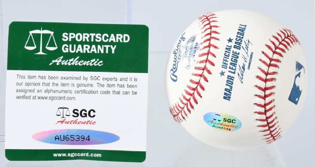 MIKE MOUSTAKAS SIGNED MLB BASEBALL - 3