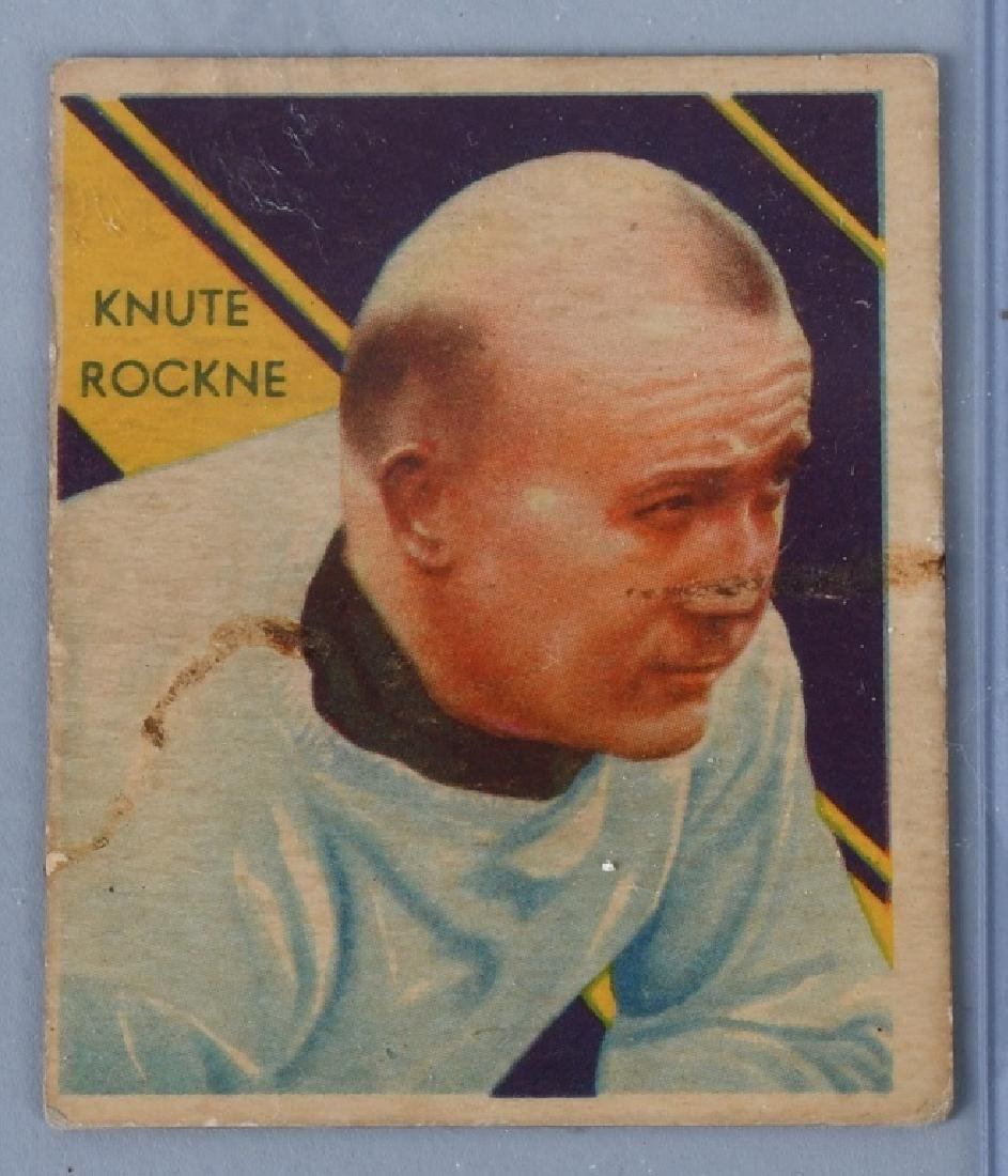 1935 NOTRE DAME KNUTE ROCKNEY FOOTBALL CARD