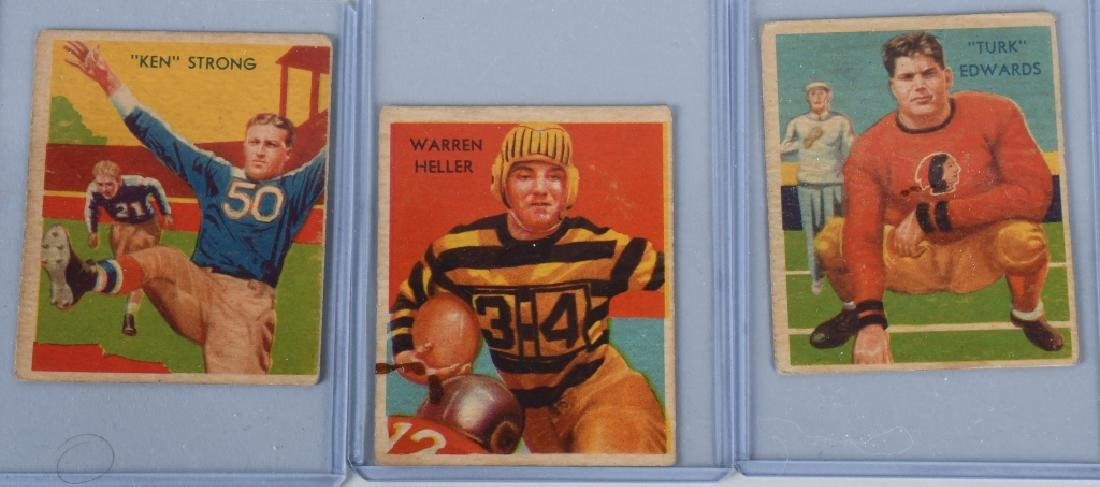 1935 NATIONAL CHICLE, FOOTBALL CARD LOT