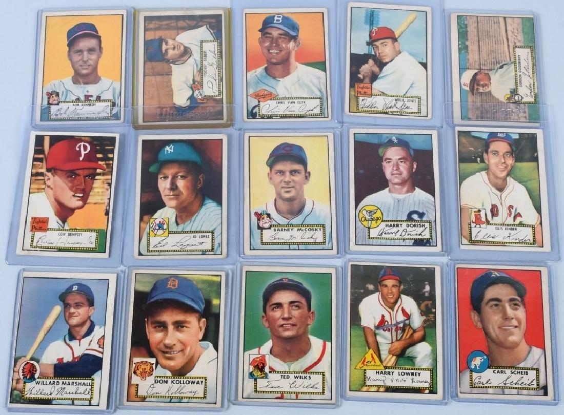 1952 TOPPS BASEBALL CARD LOT, - 15 CARDS