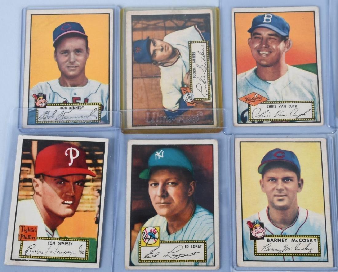 1952 TOPPS BASEBALL CARD LOT, - 15 CARDS - 2